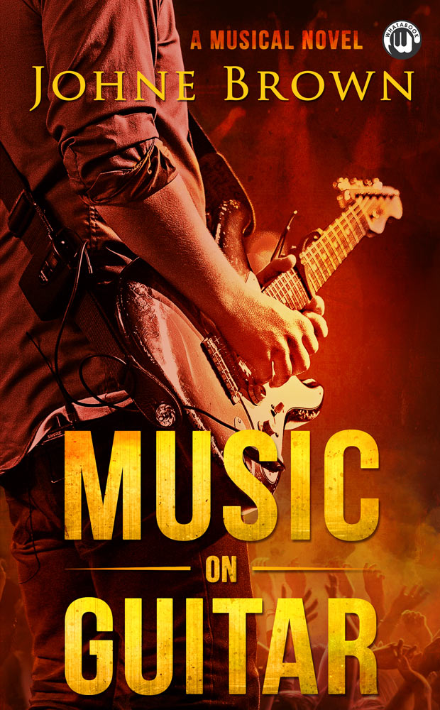 Musical Book Cover Design Guitar Art